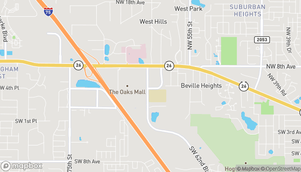 Map of 6110 NW 4th Place in Gainesville
