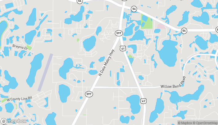 Mapa de 1408 N Dale Mabry en Lutz