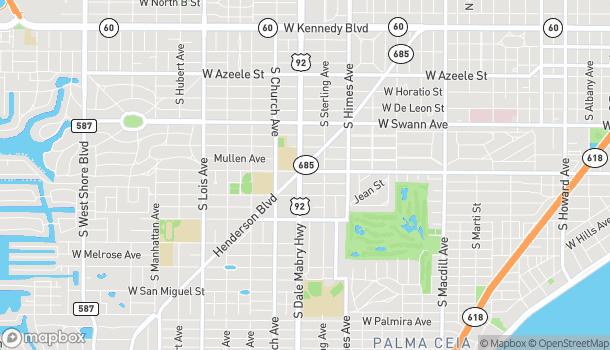 Mapa de 1000 South Dale Mabry Hwy en Tampa