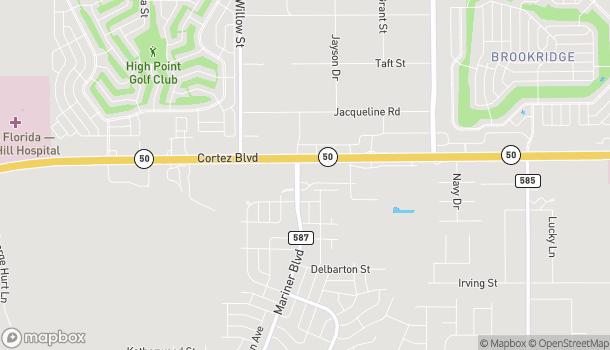 Mapa de 13174 Cortez Blvd en Brooksville