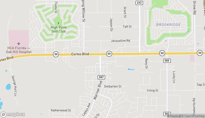 Map of 13174 Cortez Blvd in Brooksville