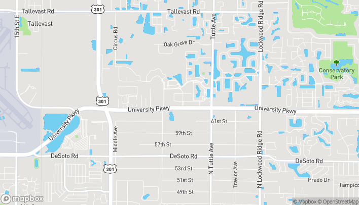 Map of 2515 University Parkway in Sarasota
