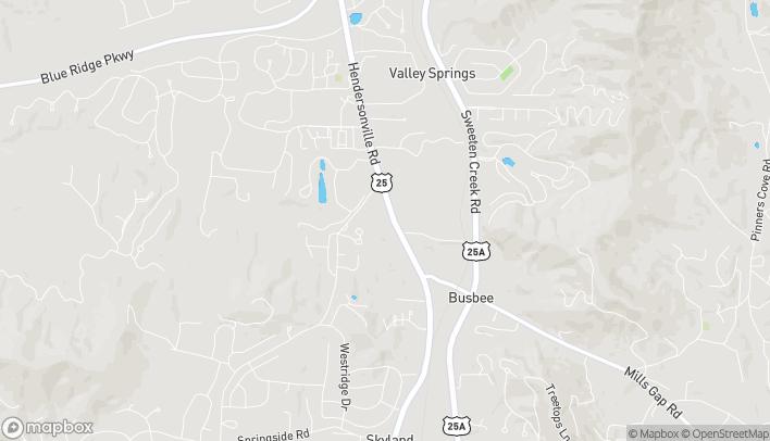 Map of 1831 Hendersonville Rd in Asheville