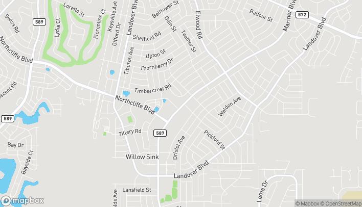 Mapa de 4287 Mariner Blvd en Spring Hill