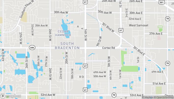 Mapa de 1313 Cortez Road W en Bradenton