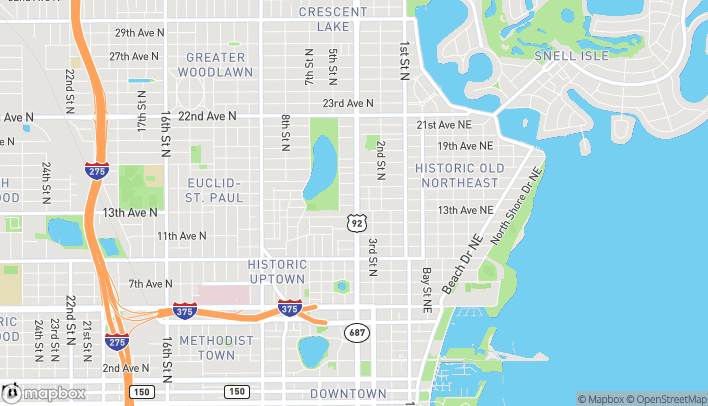 Map of 1300 4th Street North in Saint Petersburg