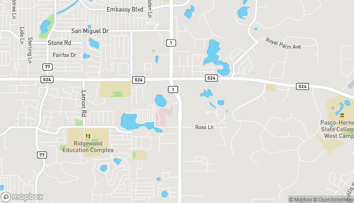 Map of 8261 Little Road in New Port Richey
