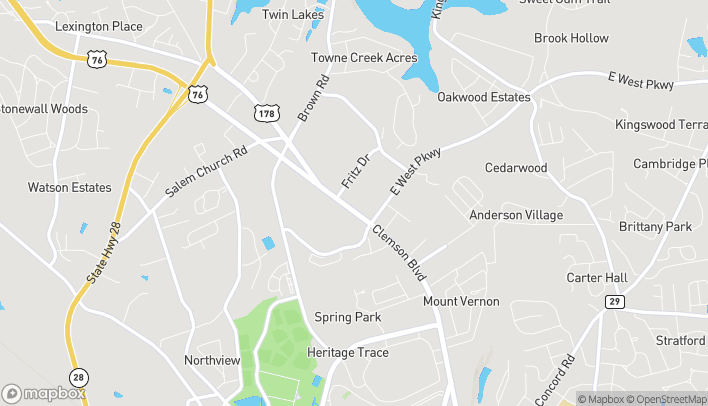 Map of 3518 Clemson Blvd in Anderson