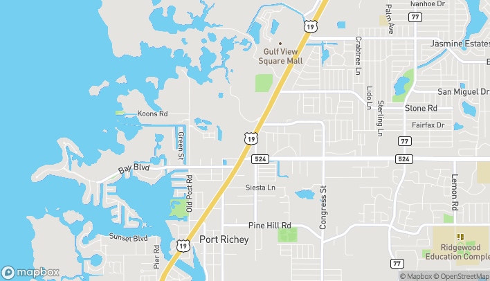 Map of 8615 US Highway 19N in Port Richey