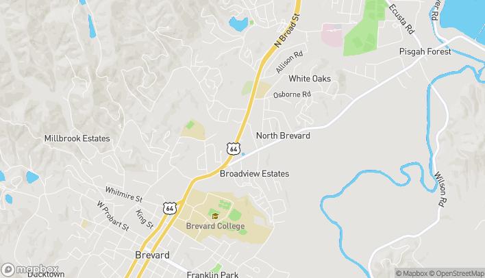 Mapa de 192 Asheville Hwy en Brevard