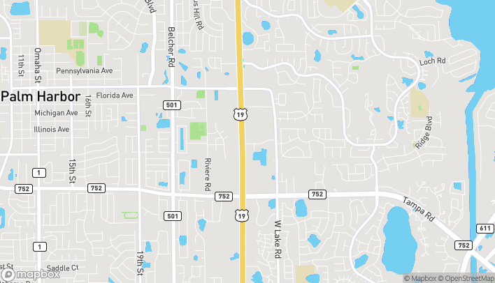 Map of 33125 US Hwy 19 in Palm Harbor