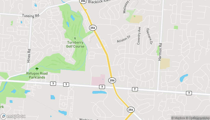 Map of 1301 Hill Road North in Pickerington