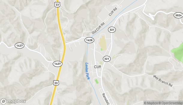 Map of 505 University Drive in Prestonsburg