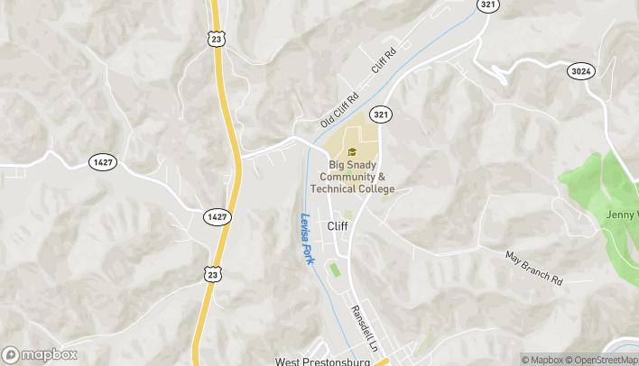 Mapa de 505 University Drive en Prestonsburg