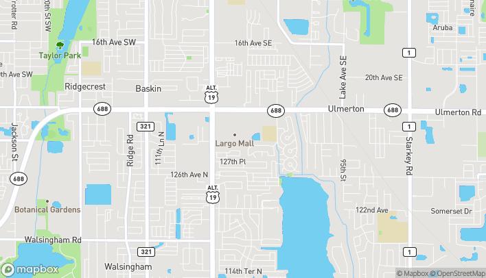 Mapa de 10500 Ulmerton Rd en Largo