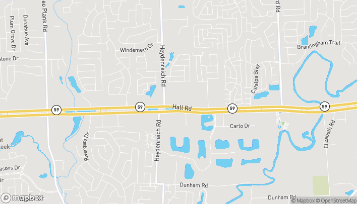 Map of 20825 Hall Road in Macomb Twp