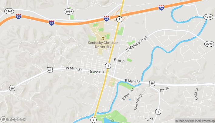 Mapa de 405 N Carol Malone Blvd en Grayson