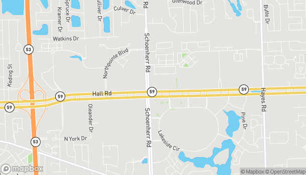 Map of 13655 Hall Rd in Shelby Township