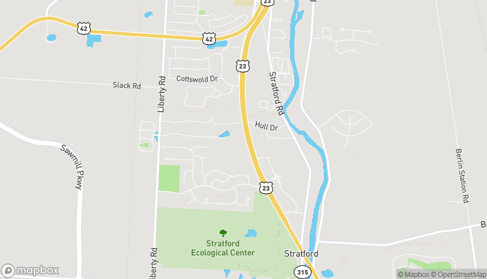 Map of 1740 Columbus Pike in Delaware
