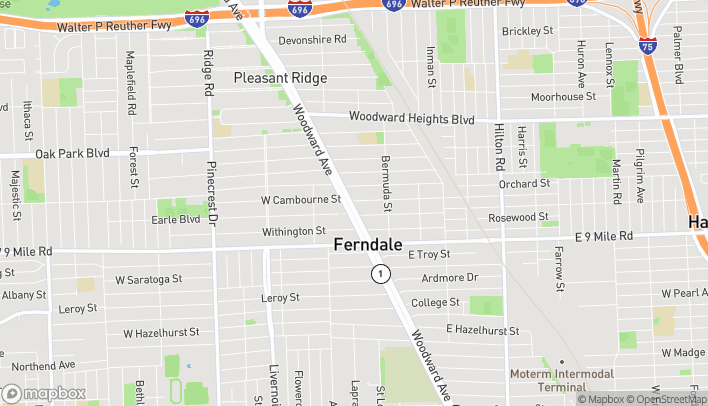 Map of 23062 Woodward Avenue in Ferndale