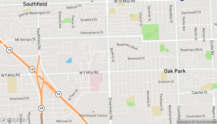 Map of 23105 Greenfield Rd in Southfield