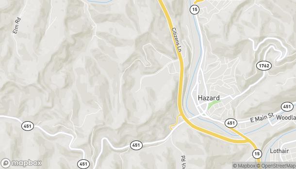 Map of 274 Black Gold Blvd in Hazard