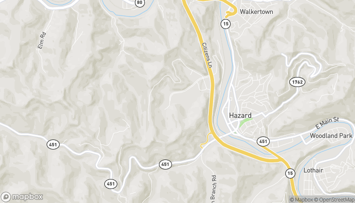 Mapa de 274 Black Gold Blvd en Hazard