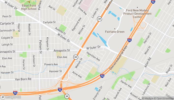 Mapa de 23060 W Outer Dr en Allen Park