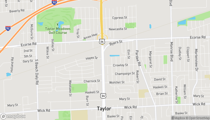 Map of 7815 Telegraph Rd in Taylor