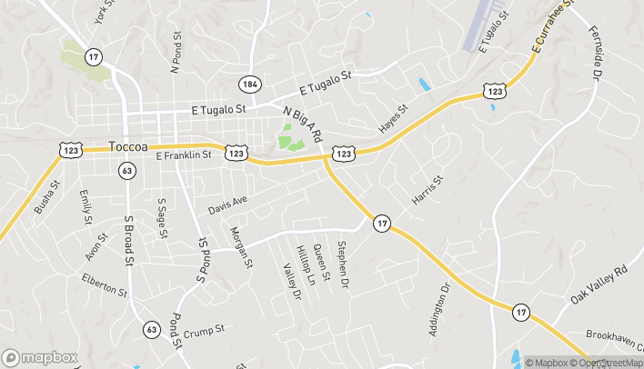 Map of 560 Skyview Lane in Toccoa