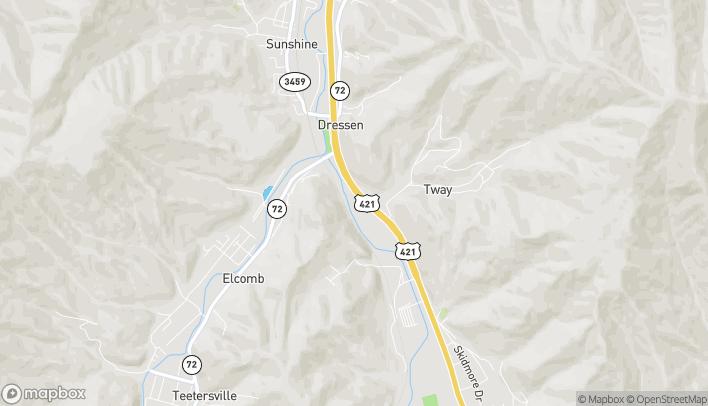 Mapa de 2386 S US Hwy 421 en Harlan