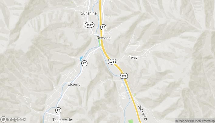Mapa de 2366 S US Hwy 421 en Harlan