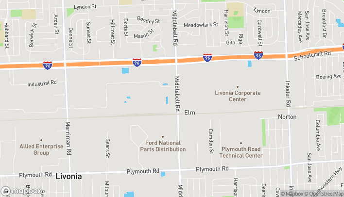 Map of 12683 Middlebelt Road in Livonia