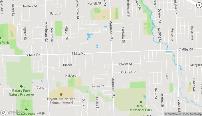 Map of 29695 Seven Mile Road in Livonia
