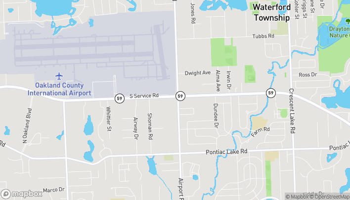 Map of 6005 Highland Road in Waterford