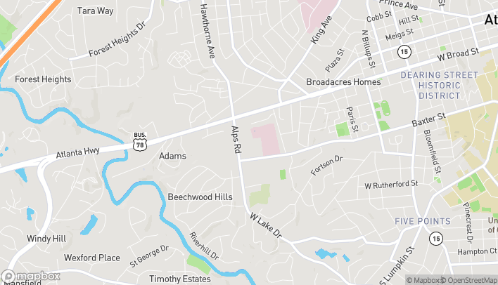 Map of 191 Alps Rd in Athens