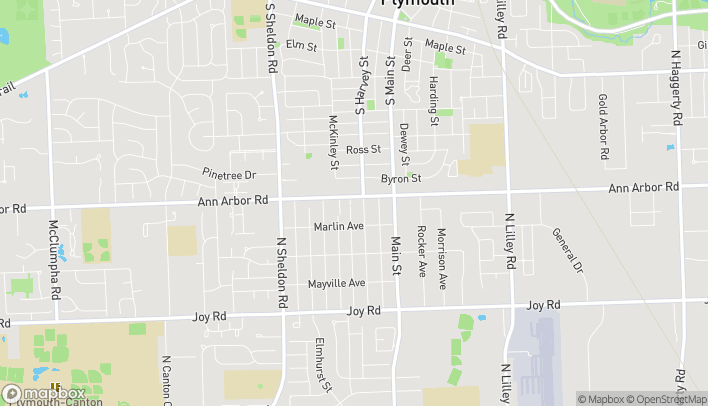 Map of 1043 Ann Arbor Road in Plymouth
