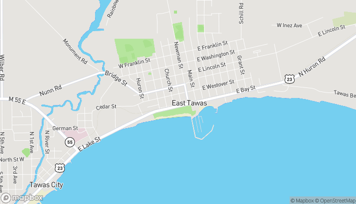 Map of 200 W Bay Street in East Tawas
