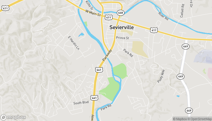 Mapa de 620 Parkway en Sevierville
