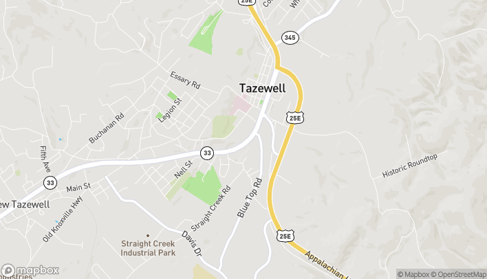 Map of 1550 N Broad St in Tazewell
