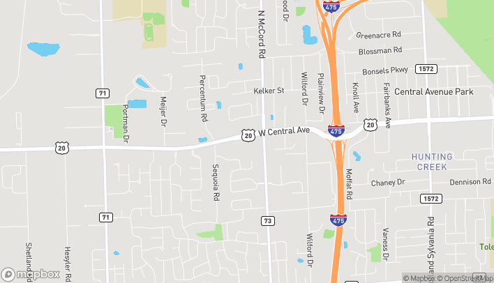 Map of 6755 W. Central Ave in Toledo