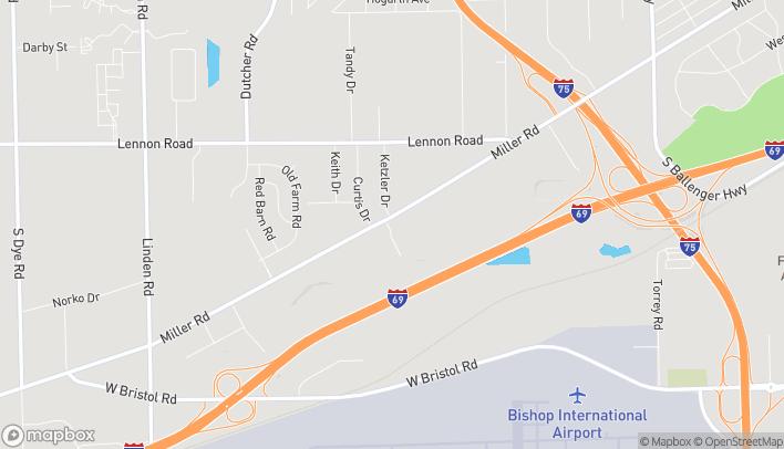Map of 4029 Miller Rd in Flint