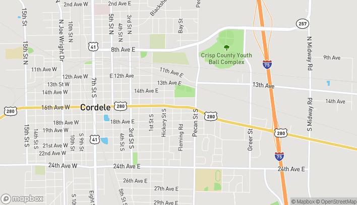 Mapa de 903 E 16th Ave en Cordele