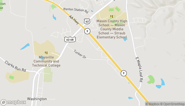 Map of 411 Market Square Dr in Maysville
