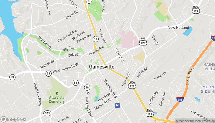 Map of 325 Jesse Jewel Pkwy in Gainesville