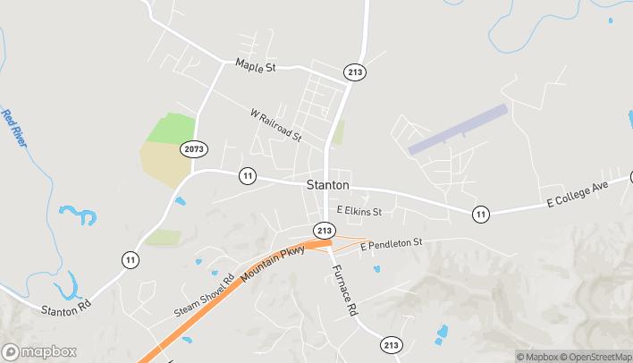 Mapa de 18 West College Avenue en Stanton
