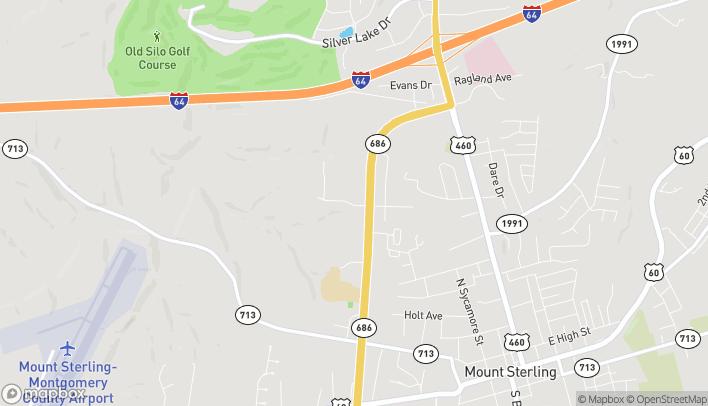 Mapa de 104 Commonwealth Drive en Mount Sterling