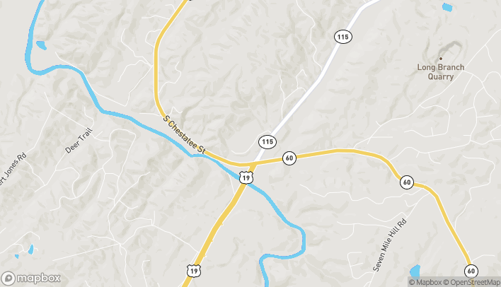 Map of 73 Maxwell Lane in Dahlonega