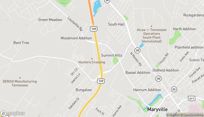 Map of 234 Hamilton Crossing Dr in Alcoa