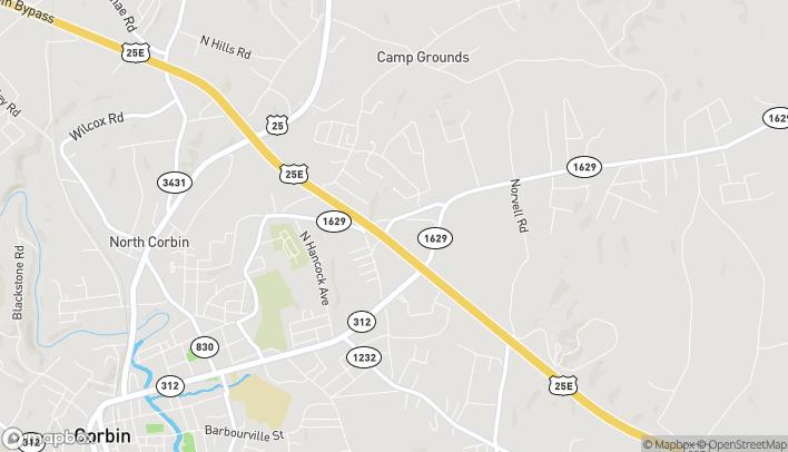 Map of 14892 N US 25 East in Corbin
